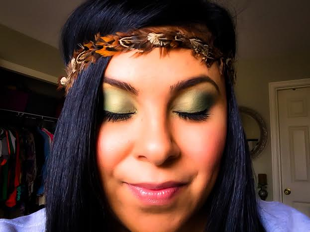 Ellen Tailor Green Blue Brown Eye Makeup