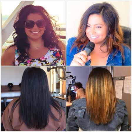 Ellen Tailor Gene Juarez Black Ombre Hair Before After