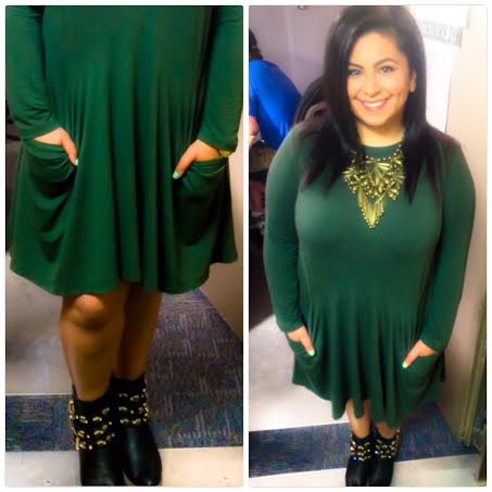 Ellen Tailor Green ASOS Dress