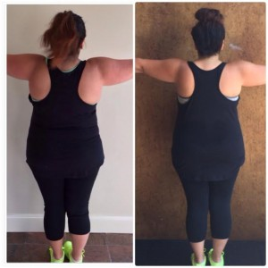 Ellen Tailor Weight Loss Wednesday Month 1 Back